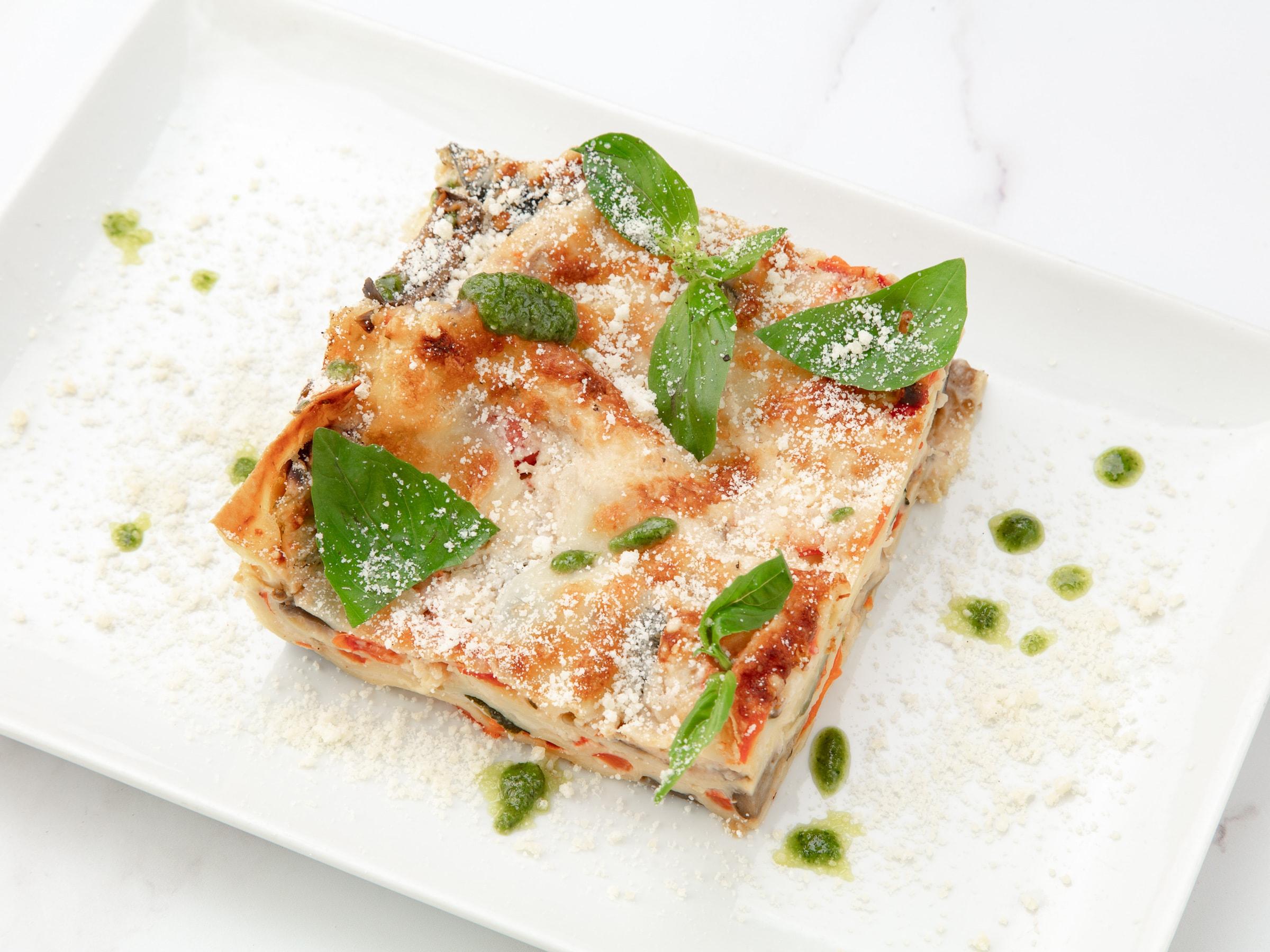 gratinée pour végétarien avec lasagnes