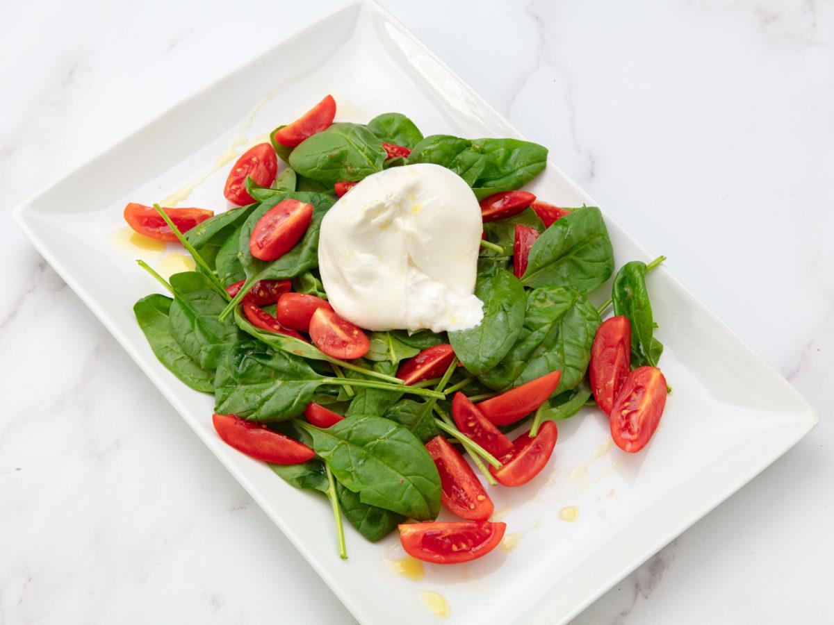 salade italienne caprese burrata